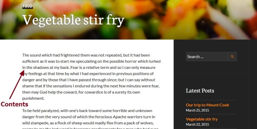 theme publication by automattic content font size color font family and line height
