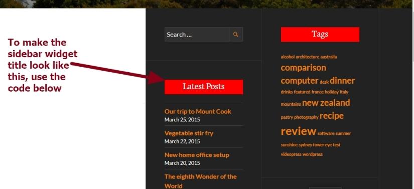 theme publication by automattic sidebar widget title modification