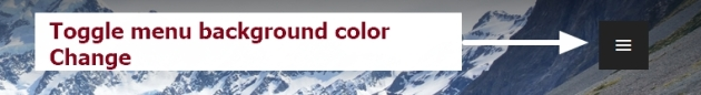 theme publication by automattic toggle menu background color change