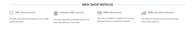 why shop with use section in wordpress html or php pages