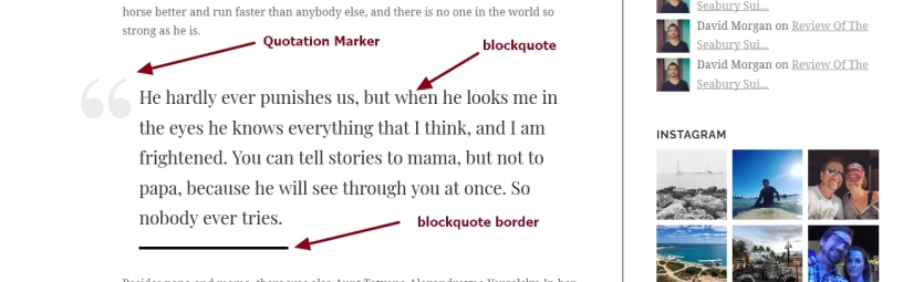 Luxury brand theme wordpress blockquote font color marker border modifications